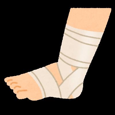 捻挫の包帯固定