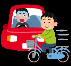 自転車で事故